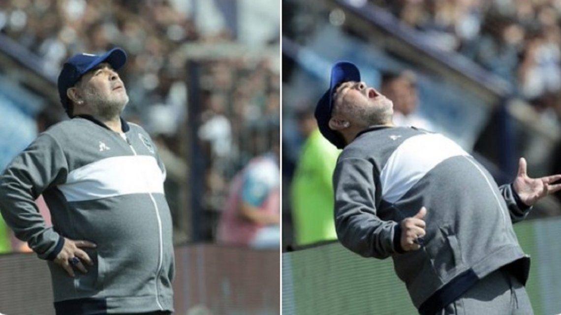 Los mejores memes por el debut de Diego Maradona en Gimnasia