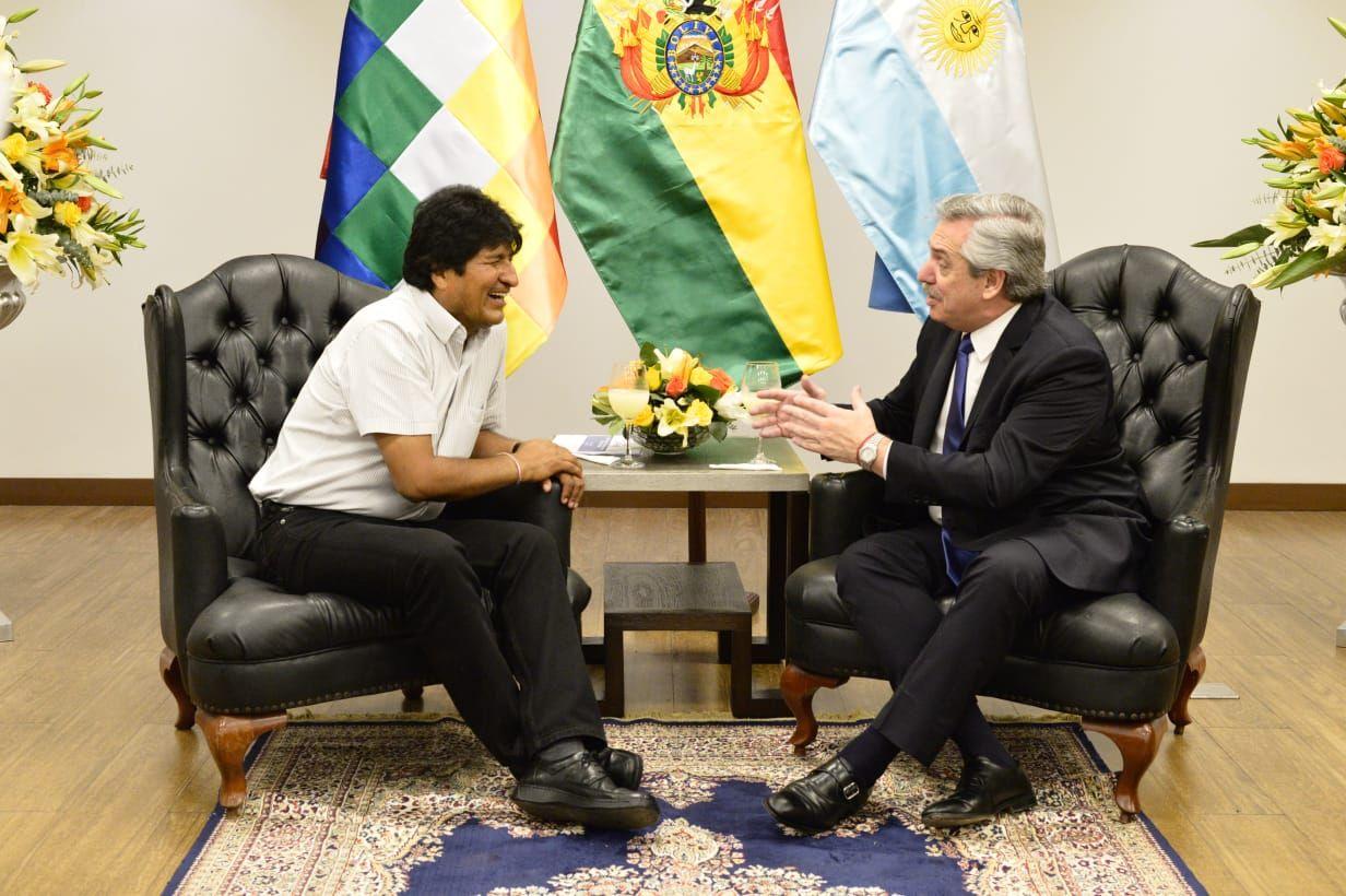 Evo Morales a Alberto Fernández: La próxima te voy a recibir como presidente