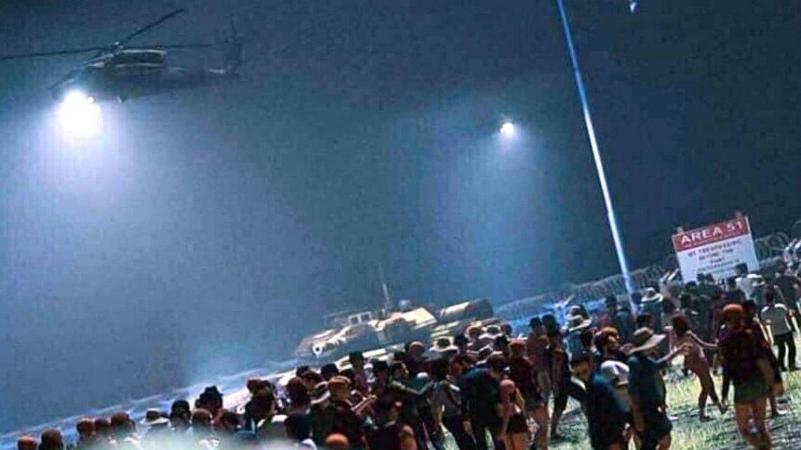 La Fuerza Aérea estadounidense, en vilo por el asalto al Área 51