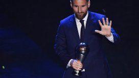 Lionel Messi ganó el premio The Best y se consagró por sexta vez como mejor jugador del mundo