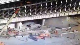 VIDEO: Así fue el derrumbe en el aeropuerto de Ezeiza