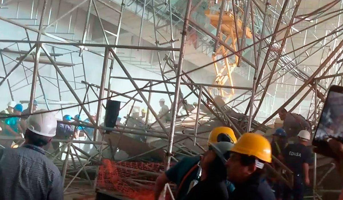 Derrumbe en el aeropuerto de Ezeiza: el Ministerio de Trabajo bonaerense había presentado sanciones contra la obra