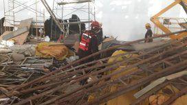 Derrumbe en Ezeiza. Foto: Ministerio de Seguridad