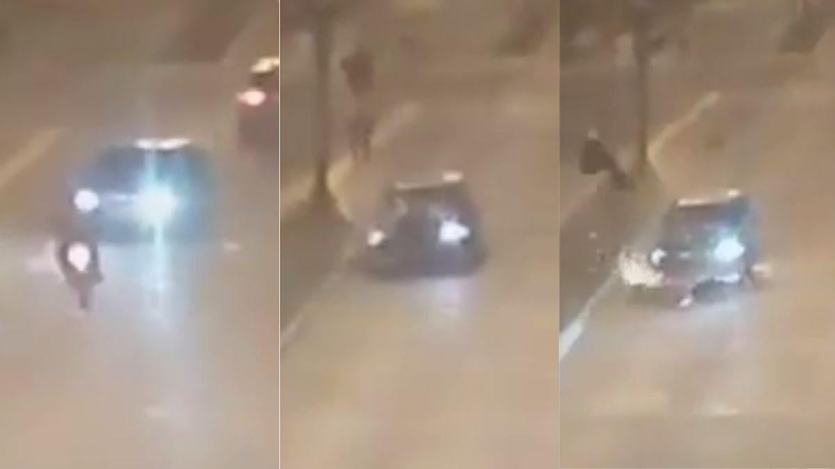 Robó un auto, escapó a gran velocidad y mató a un motociclista