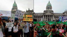 Cambio climático y aborto legal: las marchas de hoy en el Congreso