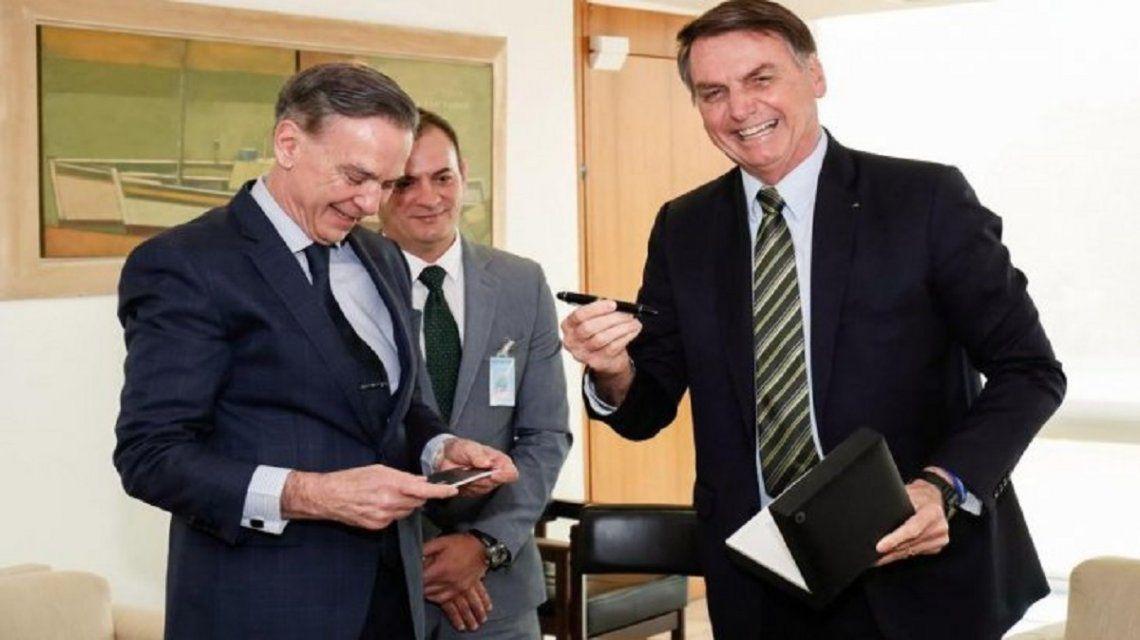 Pichetto llevó la campaña a Brasil y calificó a Bolsonaro como líder de América