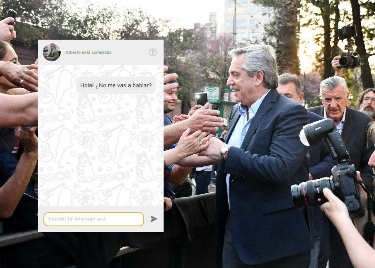 Una manera automatizada de hablar con el candidato presidencial por el Frente de Todos