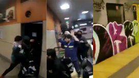 VIDEOS: Así agredieron a empleados del subte y pintaron una de las formaciones