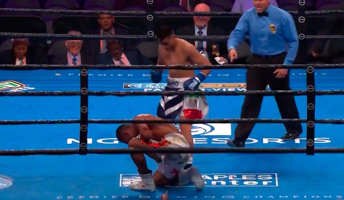 Boxeo: TNT Maidana tiró 3 veces a su rival y ganó por KO en el 1° round