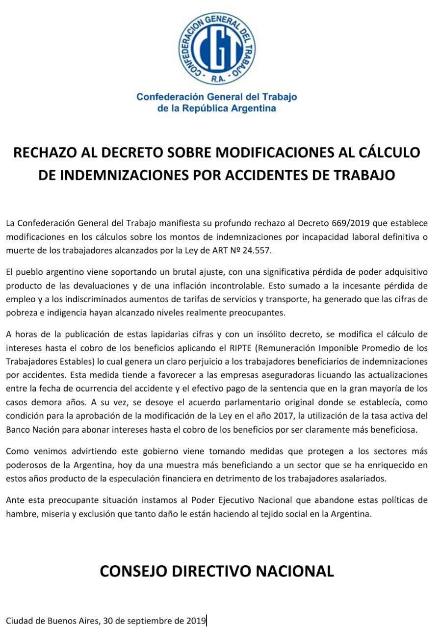 Fuertes críticas de la oposición y abogados laboralistas a la rebaja de las indemnizaciones por accidentes laborales
