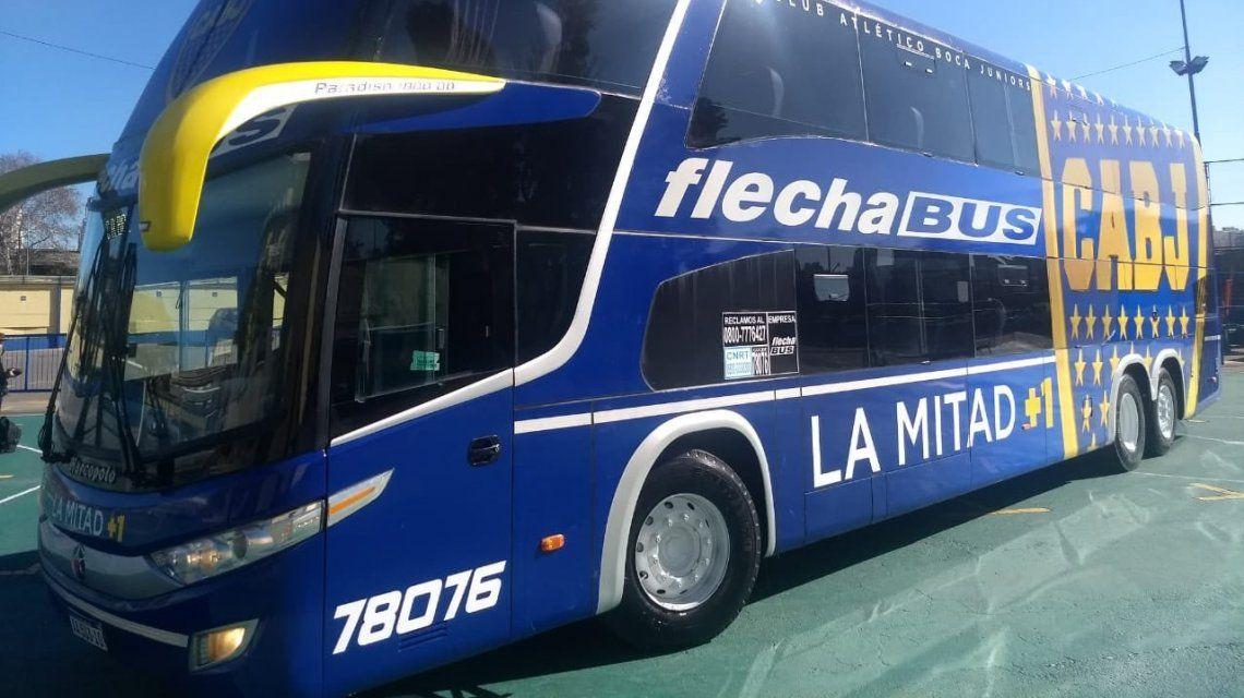 Superclásico: en su micro blindado, Boca viajó rumbo al Monumental para enfrentar a River