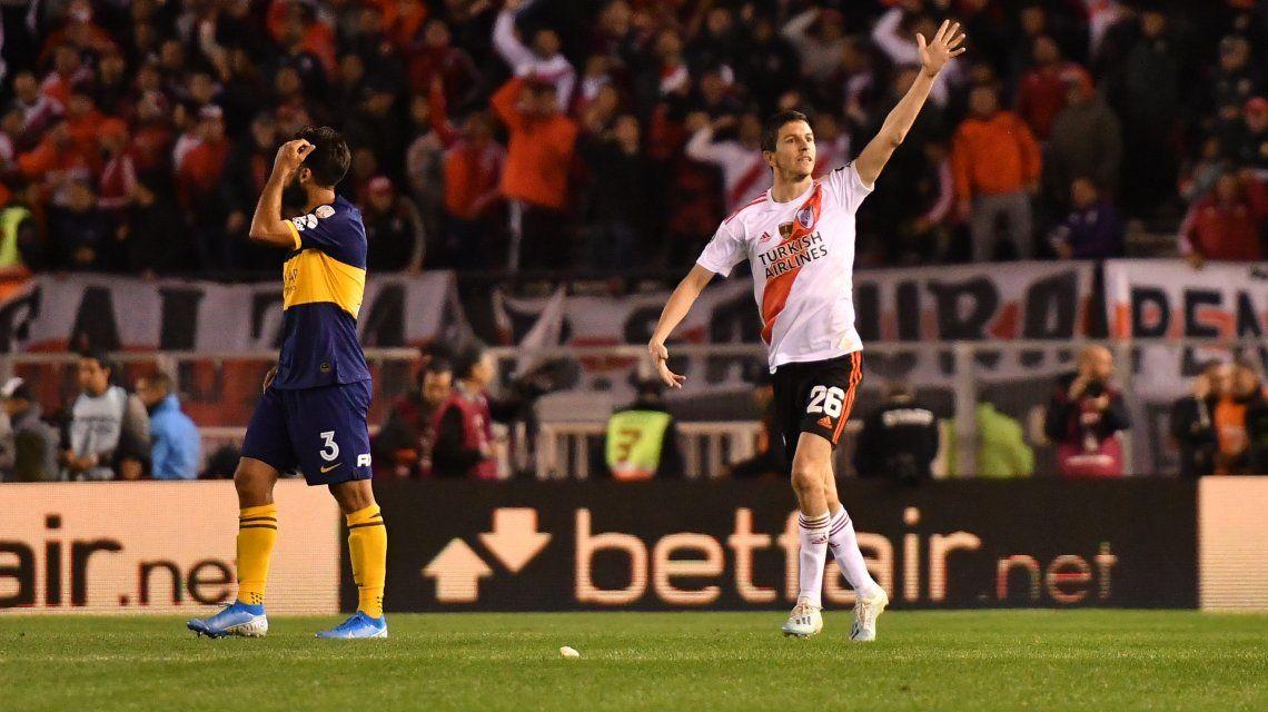 Centro atrás y gol: Nacho Fernández marcó el segundo de River