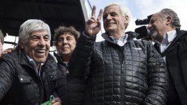 Hugo Moyano, Pablo Micheli, Antonio Caló y Hugo Yasky