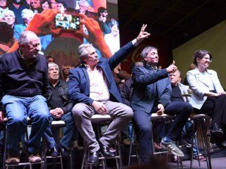 Hugo Yasky, Alberto Fernández, Máximo Kirchner y Gisela Marziotta