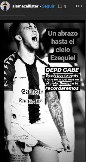 El sentido mensaje de Alexis Mac Allister por la muerte del futbolista Ezequiel Esperón