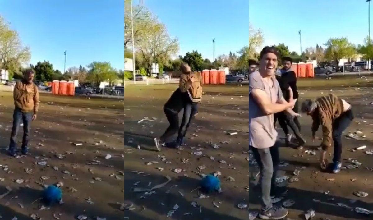 Festejo a lo bestia: así fue la extraña pelea al final de la fiesta por el torneo de rugby
