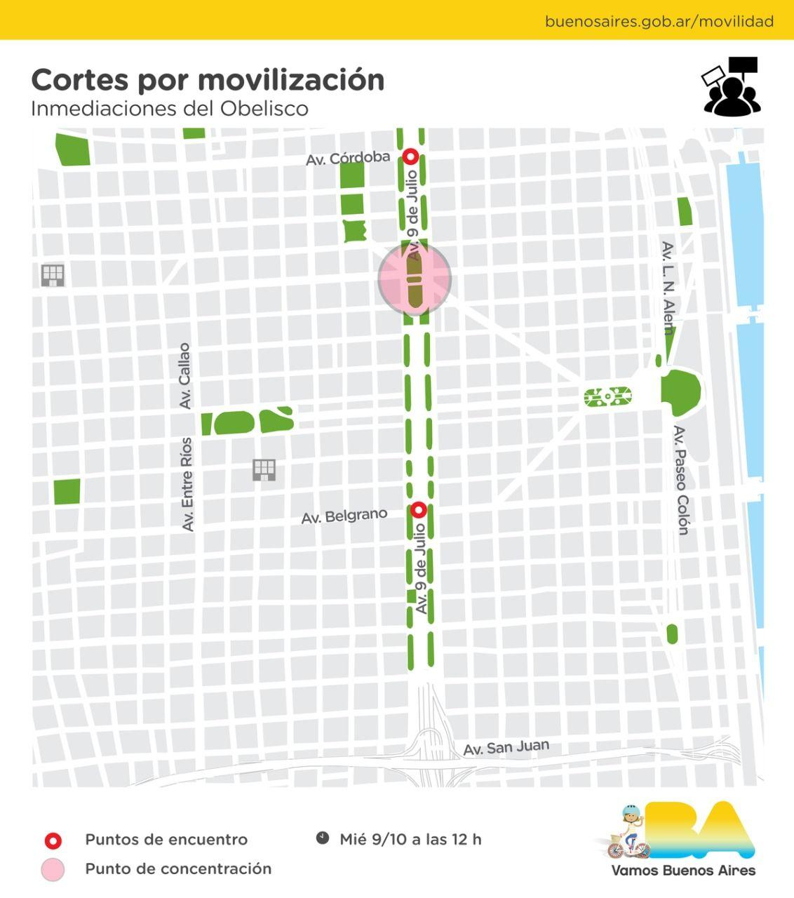 Mapa de cortes