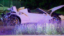 VIDEO: El choque y vuelco de la Ferrari de Errol Spence Jr.