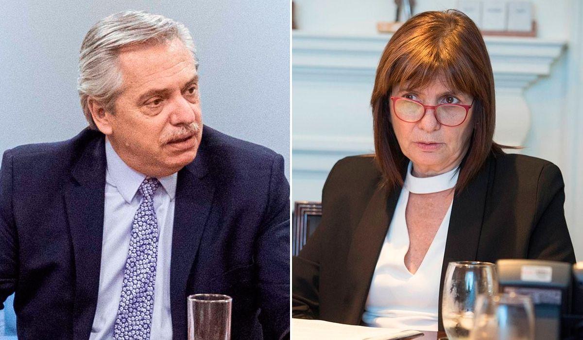 Alberto Fernández cruzó a Patricia Bullrich en Twitter por temas de seguridad