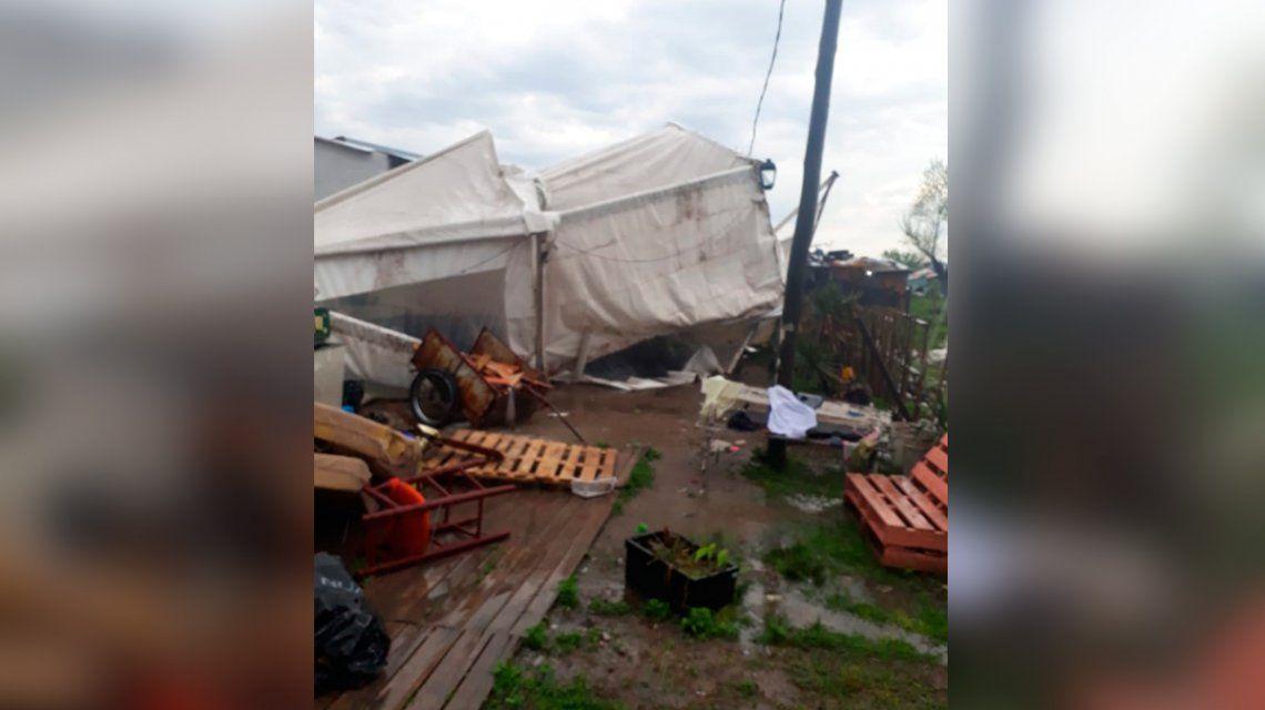 La tormenta destruyó su taller comunitario y necesitan ayuda para terminar los pedidos