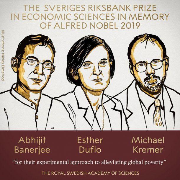 Los ganadores del Nobel de Economía 2019