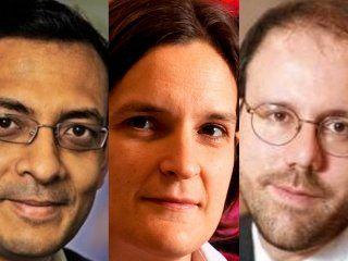 Ganadores del Nobel de Economía 2019.