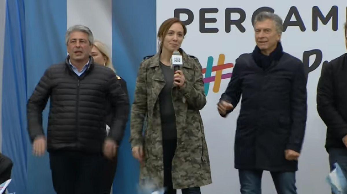 Macri quiso insistir con el no se inunda más, pero a Vidal no le quedó otra que desmentirlo