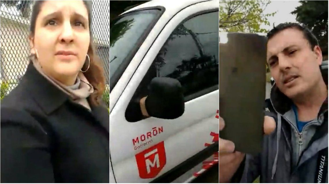 VIDEO: Utilizaron las camionetas de la Municipalidad de Morón para hacer campaña