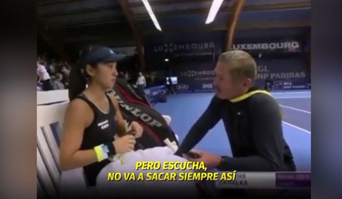 El comentario machista de un entrenador a una tenista en medio de un partido