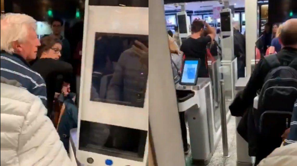 Los controles electrónicos de Migraciones dejaron de funcionar