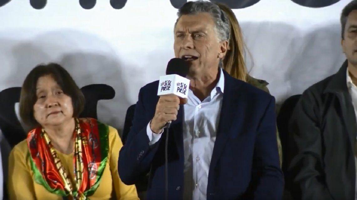 ¡Que escuche todo Corrientes!, pidió Macri en... Chaco
