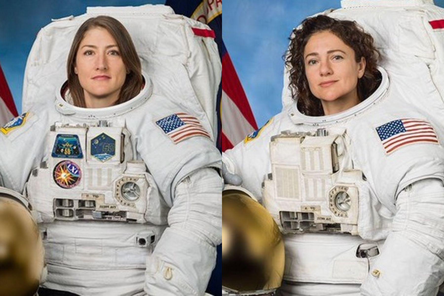 Dos astronautas de la NASA realizan la primera caminata hecha exclusivamente por mujeres