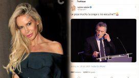 ¿Macri tenía un audífono? El polémico tuit de Luciana Salazar