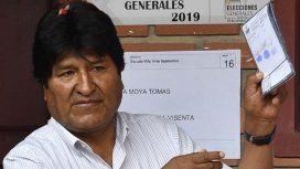 Evo Morales ganó las elecciones, pero iría a un balotaje
