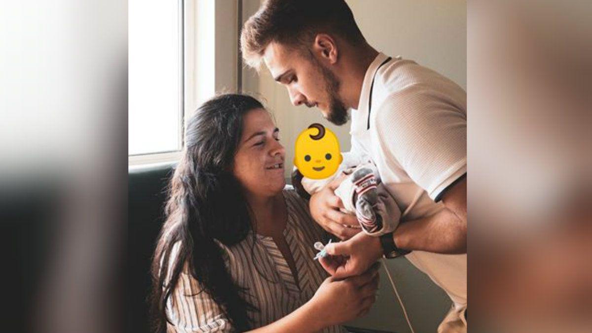 Marlene y David compartieron una foto con Rodrigo