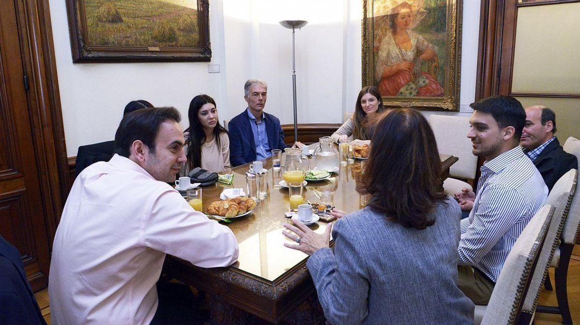 Los trabajadores tuvieron la posibilidad de desayunar con el entonces vice 1° de la Legislatura