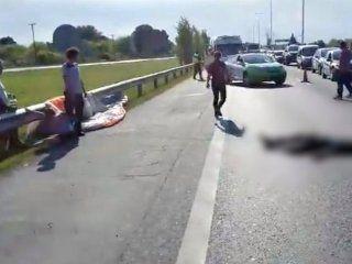 Un parapentista cayó sobre la Autopista en Luján y murió atropellado