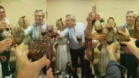 VIDEO: La intimidad del festejo de Alberto Fernández