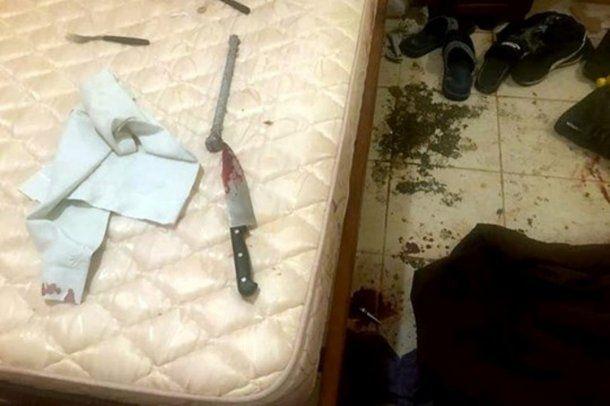 La escena del doble crimen, en un departamento de San Fernando.