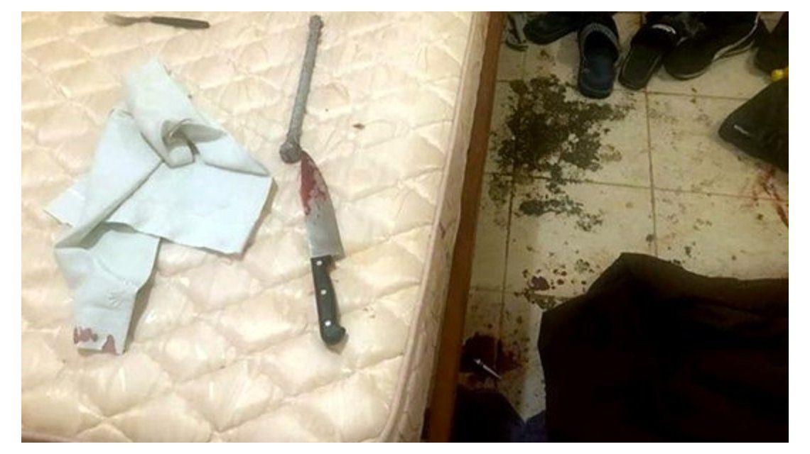 La escena del doble crimen