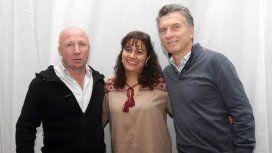Carlos MacAllister, Adriana Leher y Mauricio Macri
