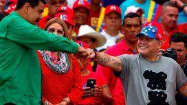 La carta de Nicolás Maduro para Maradona: Hombre legendario del Mundo