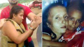 Izquierda: la mujer al ser detenida. Derecha: las víctimas del doble crimen