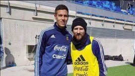 Nehuén Pérez y Lionel Messi