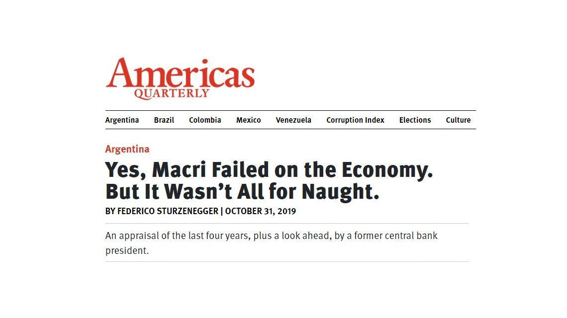 Sturzenegger destrozó a Macri: Su presidencia fue un fracaso económico
