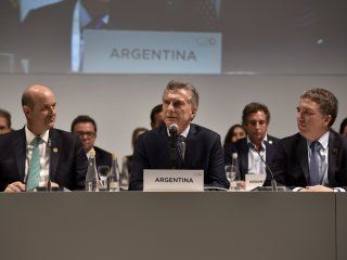 Federico Sturzenegger, Mauricio Macri y Nicolás Dujovne