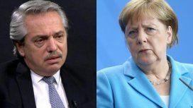 Alberto respondió el saludo de Merkel y se refirió al acuerdo Mercosur - UE