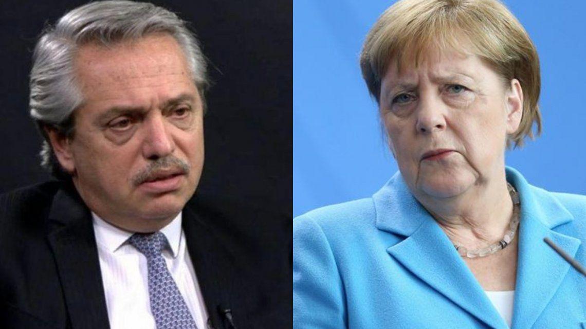 Alberto Fernández respondió el saludo de Merkel y  se refirió al acuerdo Mercosur - UE
