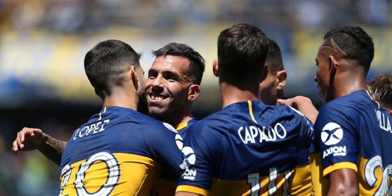 Boca goleó a Arsenal en La Bombonera y volvió a la punta de la Superliga