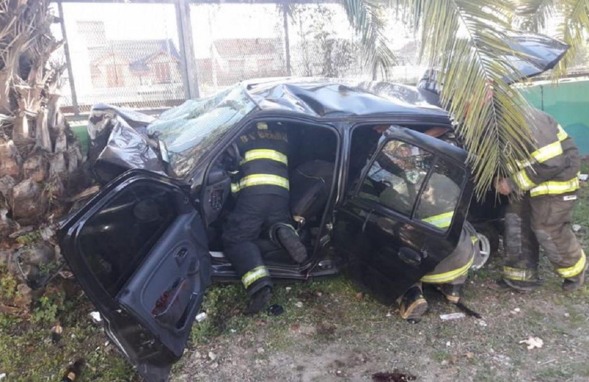 El video del trágico choque en el que murieron cuatro jóvenes en Quilmes